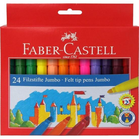 Faber-Castell Μαρκαδόροι Jumbo 24 Χρώματα