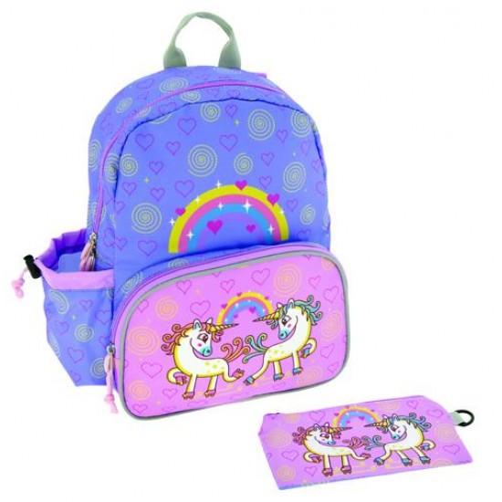 Τσάντα για Παιδικό Σταθμό με Ισοθερμική Θήκη και Παγούρι Tritan Unix+3