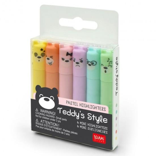Μαρκαδοράκια Legami Teddy's Style - Mini Pastel Highliters