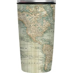 Bamboo Slide Cup - Antique Map