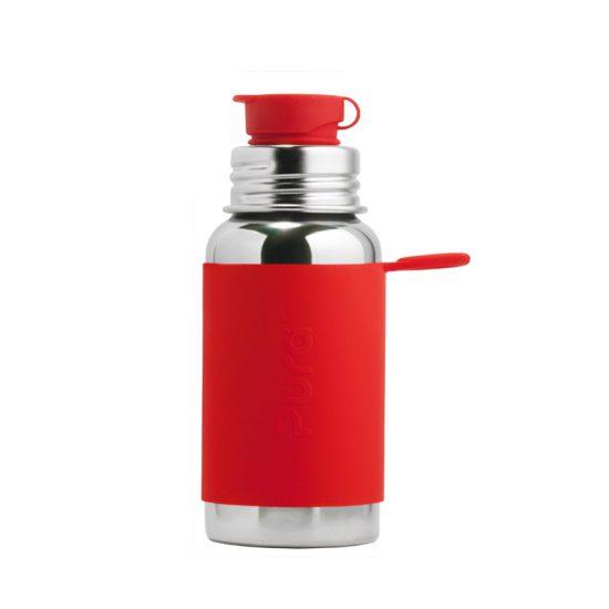 Ανοξείδωτο Παγούρι με Κόκκινη θήκη Σιλικόνης - Pura Sport - 550ml
