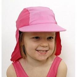 Jakabel Καπέλο με UVP50+ με κάλυψη στο σβέρκο και τα αυτιά Ροζ 0-12 μηνών