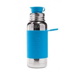 Ανοξείδωτο Ισοθερμικό Παγούρι με Μπλε θήκη Σιλικόνης - Pura Sport - 475ml