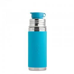 Ανοξείδωτο Ισοθερμικό Παγούρι με Μπλε θήκη Σιλικόνης - Pura Sport Mini - 260ml